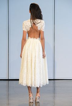 Brides.com: 25 New Wedding Dresses with Statement Backs. Wedding dress by Houghton See more wedding dresses from Houghton's Spring 2015 collection.