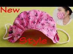 (New Style) Breathable ! The Mask Does Not Touch The Mouth and Nose, is Easy to Breathe - YouTube Small Sewing Projects, Sewing Hacks, Sewing Tutorials, Sewing Crafts, Diy Crafts, Dress Tutorials, Sewing Blogs, Sewing Tips, Techniques Couture
