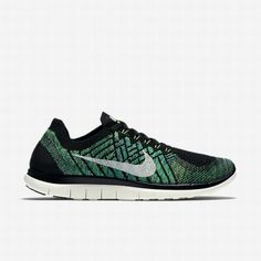 best service c422c 3adda  97.26 black nike free 4.0 flyknit,Nike Womens Black Voltage Green Lucky  Green Sail Free 4.0 Flyknit Running Shoe