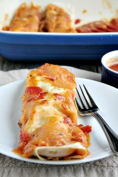 Easy Chicken and Cheese Enchiladas - heathersfrenchpress.com #dinner #ad