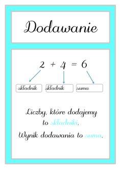 Kochani! Dziś dzielę się z Wami planszami matematycznymi w formatach a4. Możecie je wykorzystać jako materiał na gazetkę klasową. Materiał do pobrania pod zdję Hand Lettering, Chart, Math Equations, Education, Diy, Inspiration, Biblical Inspiration, Bricolage, Handwriting