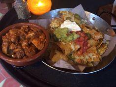 Chipotle chicken nachos - Latino tapas, Las Iguanas Glasgow