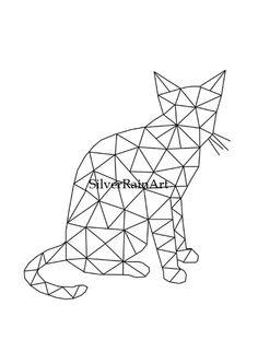 Cat Print by SilverRainArt on Etsy