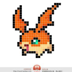 Digimon Perler Bead Pattern