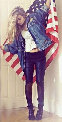 Blue Jean Jacket & leggings