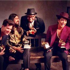 """Good times with the crew:) we won!!!!#grammys2016 #uptownfunk #recordoftheyearrrrrrr"""