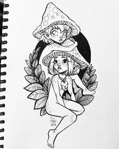 2 fairy witches for #inktober2016  /staedtler fineliners, pentel brush pen