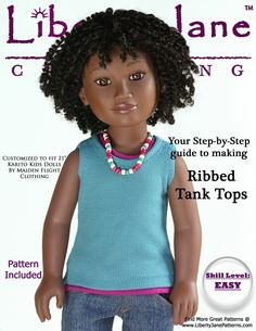 Free tank top pattern for Karito Kids Dolls | Liberty Jane Doll Clothes Patterns For American Girl Dolls