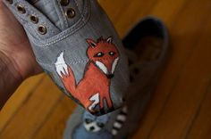 TOMS shoes - Mr Fox // #TOMSshoes TOMS Shoes #OneforOne One for One #StyleYourSole Style Your Sole #DIY