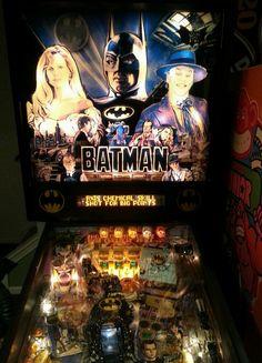 Batman Pinball Machine, 1991 Data East Plays like a dream! Dark Knight, Pinball, Arcade Games, Plays, The Darkest, Video Games, Tables, Batman, Collection
