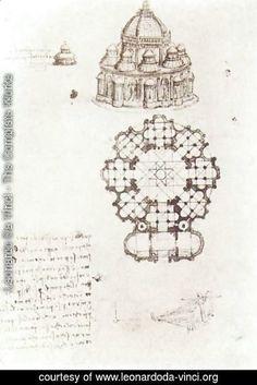Leonardo Da Vinci - Study Of A Central Church