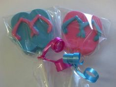 Chocolate Flip Flop Lollipop Party Favors by StephsSweetShop, $19.80