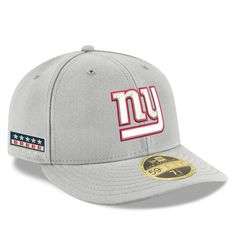 b27ec781444ca Men s New York Giants New Era Gray Crafted in the USA Low Profile 59FIFTY  Fitted Hat
