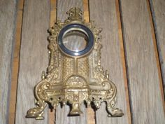 Vintage Brass Clock holder case lovely piece by rustyitems on Etsy