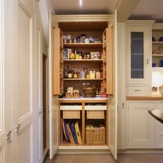 Fulham pantry in Roundhouse Classic bespoke painted kitchen