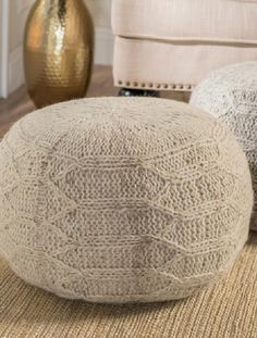 Handcrafted Fabric Pouf Pouf Ottoman, Ottoman Bench, West Elm, Ikea, Dot And Bo, Knitting Designs, Foot Rest, Decoration, Modern Furniture