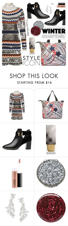 """""""#ootd Glitter Styler"""" by cstarzforhome ❤ liked on Polyvore featuring Ted Baker, Burberry, MAC Cosmetics and Kate Spade"""