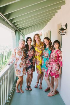 Real life Sample - Bridesmaids Robes made From A1 Fabric Pattern