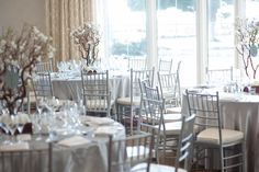 With a wall of windows that look out at the Pacific Ocean, our Wavecrest Ballroom offers an ideal setting for celebrating! #sandiegowedding #sandiegoweddingreception #carlsbadwedding #hgiweddings #weddingreception #ballroomdecor Photo Credit: Marlon Taylor Photography