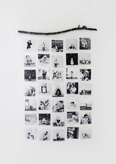 Budgetdekoration vom Feinsten: DIY-Fotocollagen-Ideen und Layouts Budget decoration at its best: DIY photo collage ideas and layouts Diy Wanddekorationen, Diy Crafts, Decor Crafts, Fun Diy, Photo Wall Hanging, Hanging Photos, Diy Hanging, Hanging Polaroids, Hanging Family Pictures