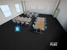 @Smith System Flex Desk Configurations - Contact Sales@jennifernelson.com for product information and sales.
