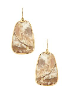 Striped Agate Drop Earrings from Natural Stones Feat. Janna Conner on Gilt