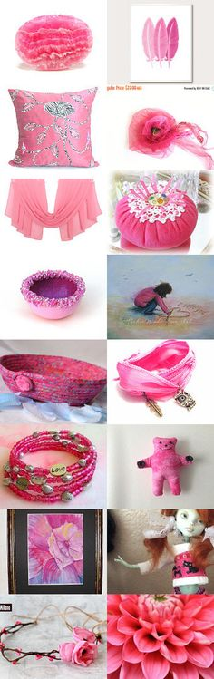 Pretty in Pink by ROSE on Etsy--Pinned+with+TreasuryPin.com