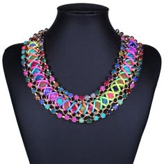 """Susenstone Multiple Layers Round Ball Chandelier Torsade Colorful Bib Necklace. Susenstone is a registered trademark and the only authorized seller of susenstone branded products. Nice accessories to integrate jewelry case for girls and collectors. Catch this beautiful accessories for you. Material:Alloy Chain Length:42CM/16.53""""."""