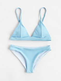 Shop Seam Detail Triangle Bikini Set online. SheIn offers Seam Detail Triangle Bikini Set & more to fit your fashionable needs.
