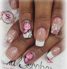 Nail, Beauty, Colorful Nail Designs, Butterflies, Nails, Hands, Color, Beauty Illustration