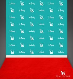 Custom Sweet Sixteen Step And Repeat Backdrop For Red Carpet