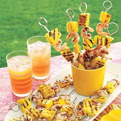 Luau Food: Fruity Grilled Shrimp Skewers from allyou.com