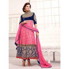 New Designer Sayali bhagat pink heavy worked anarkali