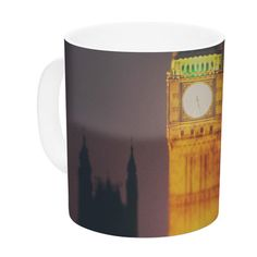 East Urban Home Westminster at Night by Laura Evans 11 oz. Ceramic Coffee Mug