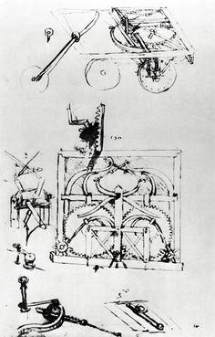 Perspective And Plan Drawings Of Automotive Wagon, Moved By System Of Springs, And Equipped With Differential Transmission, Fol. 296 (Verso)-A, From The Codex Atlanticus, 1478-1518 Giclee Print Poster by Leonardo Da Vinci Online On Sale at Wall Art Store – Posters-Print.com