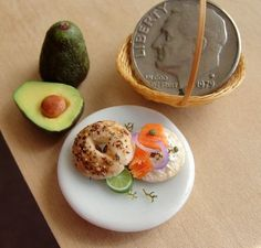Wee Everything Bagel with Lox and Avocado   30 Itty-Bitty Foods That Look Good Enough To Eat