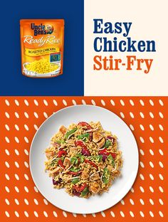 A delicious meal that's crafted to make dinnertime easy. Our Easy Chicken Stir-Fry will quickly become your go-to recipe since it only takes 20 minutes to make and is filled with vegetables and lean…More Seafood Recipes, Indian Food Recipes, Asian Recipes, Chicken Recipes, Healthy Recipes, Oriental Recipes, Oriental Food, Protein Recipes, Stir Fry Recipes