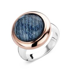 Ti Sento Milano Sterling Silver Denim Blue Ring 1910DR from Campbell Jewellers