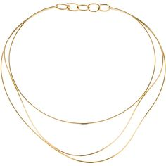 Pre-owned Tiffany & Co. Elsa Peretti Wave Necklace ($2,425) ❤ liked on Polyvore featuring jewelry, necklaces, bijoux, fillers, jewelry/accessories, gold, 18 karat gold jewelry, yellow gold necklace, preowned jewelry and gold choker