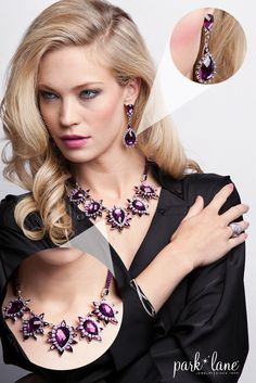 Make it a night to remember with the gorgeous Parisian Set. #parklanejewelry #fashion #statementnecklace