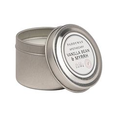 Paddywax Travel Tin Apothecary Collection Candle, Vanilla Bean/Myrrh Paddywax http://www.amazon.com/dp/B016UPZF1C/ref=cm_sw_r_pi_dp_fA4ywb0QV1M1R