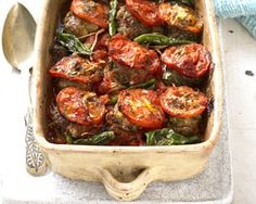 Lamb meatballs and potato bake