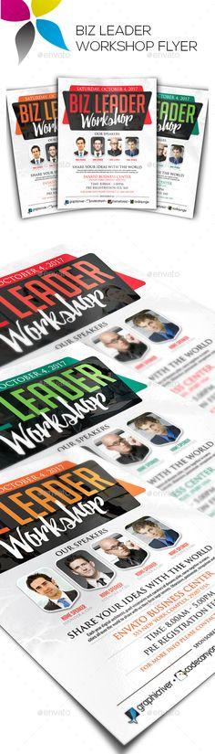 Corporate Flyer Template Workshop\u003c Graphic Design Pinterest
