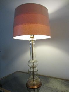 Italian Clarity Lamp Hand Blown Mid Century Glass Contemporary Designer Modern Shade