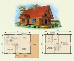 morgan log home and log cabin floor plan