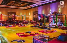 Occasions by Shangri-La, a Full Service Event Decor & Floral Company, designs vibrant & colorful Sangeet Decor, Mehndi Decor & Garba Decor.