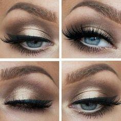 Lovely gold eye makeup