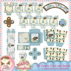 Kit Festa Chá de Bebê by Renata Prado e Lu Ifanger -   Boutique do Scrap