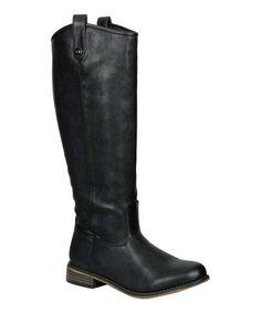 Look what I found on #zulily! Black Rider Boot #zulilyfinds