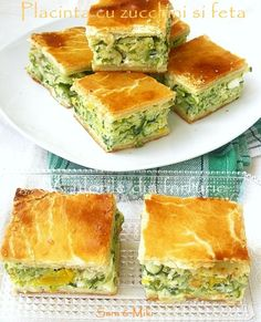zucchini and feta pie Avocado Salad Recipes, Yogurt Recipes, Entree Festive, Festive Bread, Healthy Cooking, Cooking Recipes, Good Food, Yummy Food, Specialty Cakes